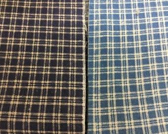 Lot of Vintage Homespun Cotton Fabric