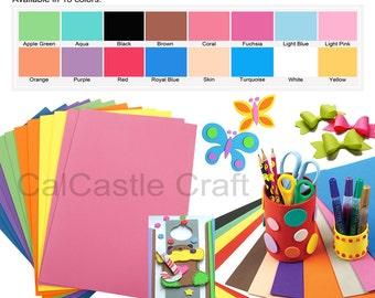 "10 pcs 2mm Craft Foam Sheet Foamie Eva Foam Foamy Extra Large 12"" x 18"" Crafting, Children craft - 16  colors available"