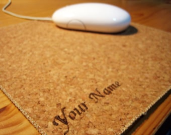 Personalized Name Cork Mouse Pad Mousepad Mouse Mat Cork Mouse Pad Office Mousemat Rectangular Mousemat Print Mousepad custom made size