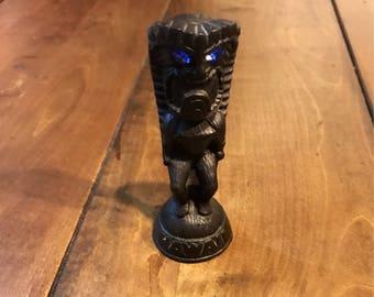 Vintage Hawaiian KU Possessor of Powers Lava Figurine - Hawaiian God Figurine - Hawaii