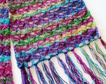 Crochet Pattern for Super Scarf Autumn Sunset PDF 16-270S