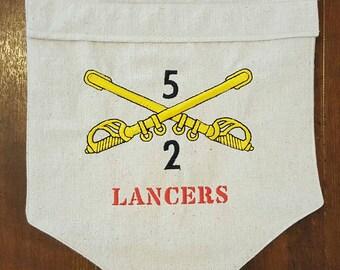 Army Crest Garden Flag Military Garden Flag Military Unit Garden Flag, Cavalry Unit Military Gift
