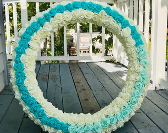 Wedding Arch Circle Wreath Centerpiece Back Drop Even Decoration