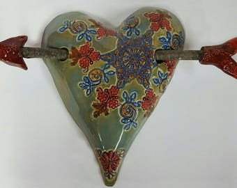Ceramic Wall Heart