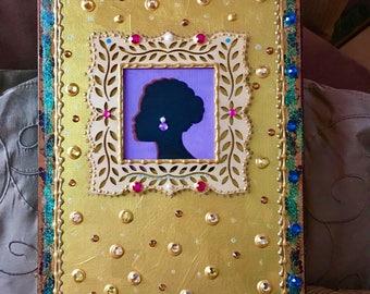 Hand painted Treasure Box- On of a kind