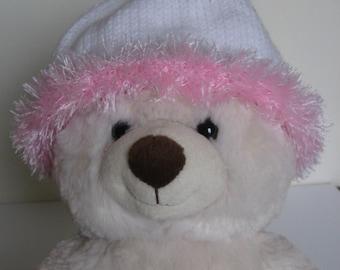 White Baby Beanie with Fluffy Brim