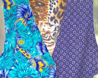 Batik Art Vest   BOHO Chic Vintage 1970s