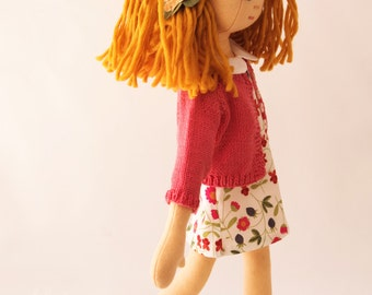 Handmade Doll Wardrobe with Liberty Fabric