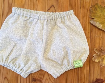 Flowers beige organic cotton bloomers
