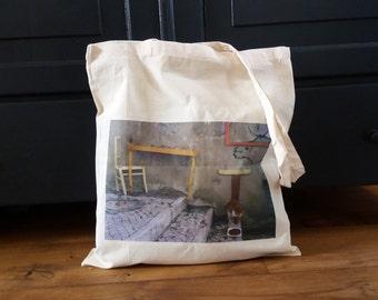 Cotton bag with photographed image StreetArt, Totetas, bag, carrying case
