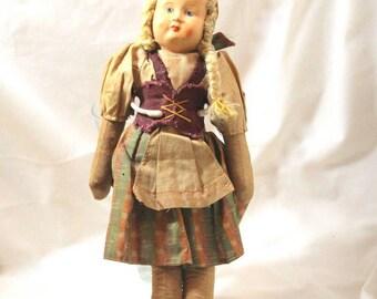 Doll Polish Ethnic Cloth Doll Mid Century Doll