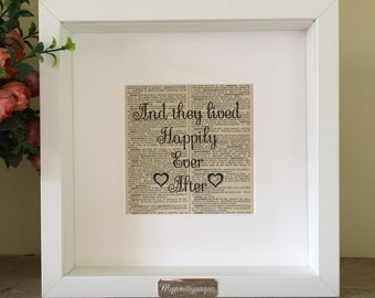 Wedding gift - gift for newlyweds - engagement gift - home decor - paper anniversary - gift for couple - first anniversary gift