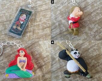 Disney and Pixar Necklaces and Keychains - Walt Disney World Jewelry