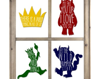"""8""""x10"""" Where The Wild Things Are (SET OF 4)"""