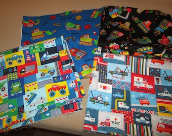 Various Sizes Patterns TRUCKS and RESCUE Cotton Twill  Fabric Sewing Quilting Supplies