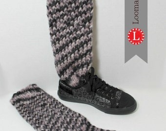 Loom Knitting Pattern Sock Boots with Video Tutorial by Loomahat