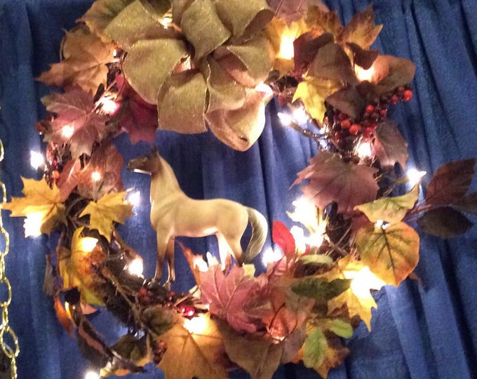 Fall Equestrian Horse Wreath