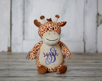 Embroidered Stuffed Baby Giraffe Cubbie