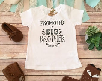 Big Brother Shirt, Promoted to Big Brother Shirt, Hipster Baby Clothes, Big Brother Little, Pregnancy Reveal, Sibling Pregnancy Announcement
