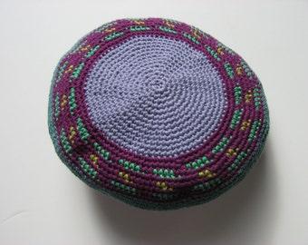cotton slouchy beret medium