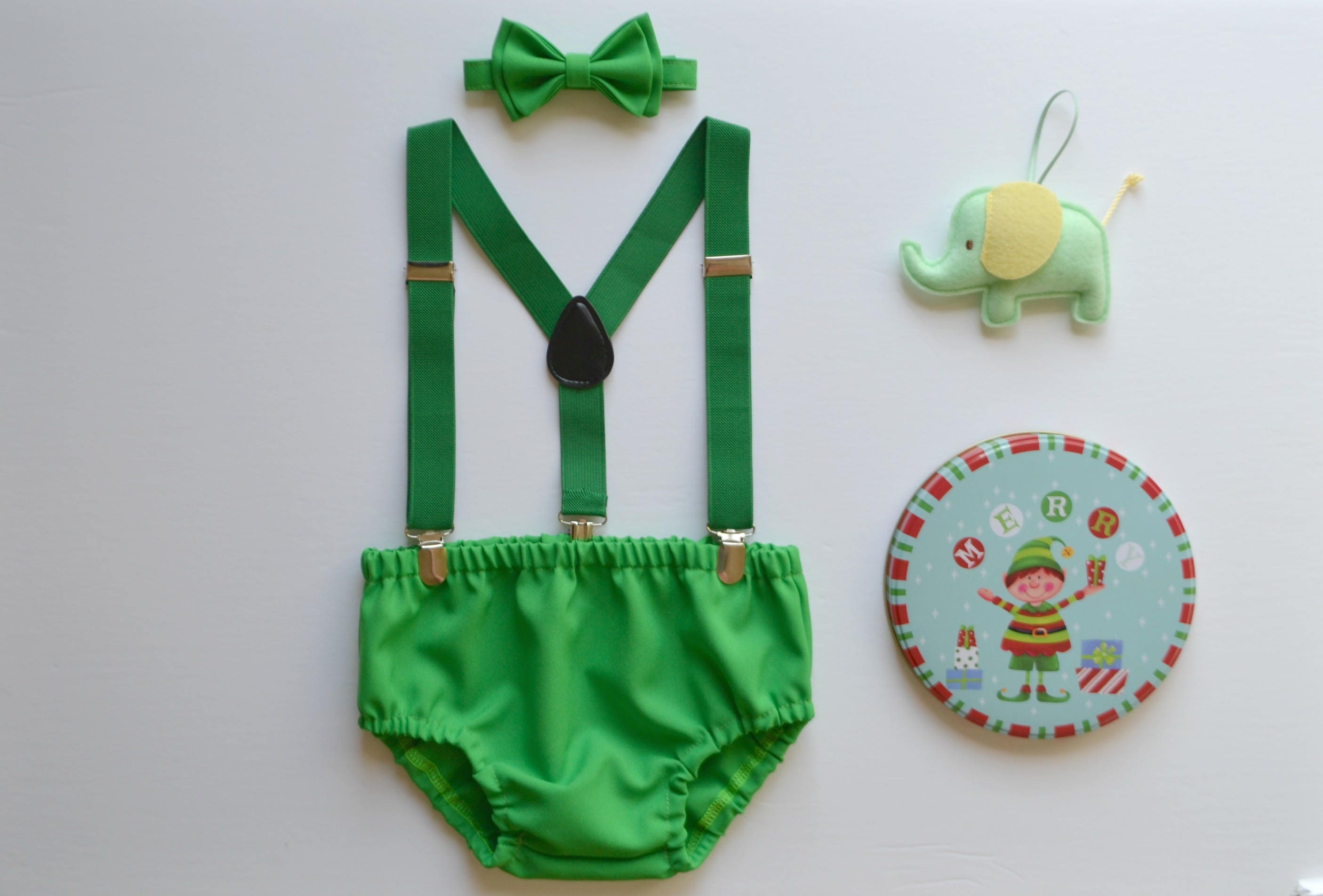 Baby Boy Green Cake Smash Outfit Baby Boy First Birthday