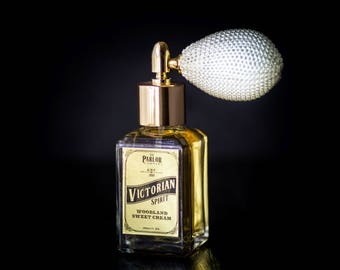 Victorian Spirit - Vanilla Amber Perfume - Woodland Sweet Creme - Atomizer Bottle -1 oz