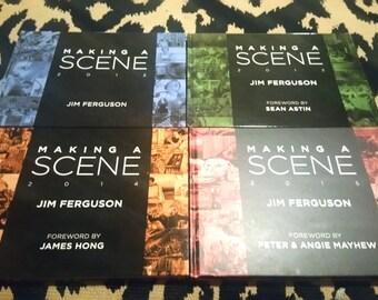 SALE!  Set of 4 Making a Scene Art Books by Jim Ferguson