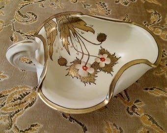 Art Nouveau Style Candy Dish Wiener Werkstatte Ceramic Klimpt like Hand Painted Pottery