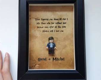 After all this time always / Harry Potter Fan Gift / Severus Snape Quote / Lego Frame / Birthday / Anniversary Boyfriend Girlfriend Gift
