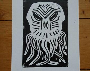 The Old Ones Linocut Print