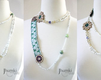 Sushikha ///  a Versatile Flapper Necklace by Jhumki - designs by raindrops