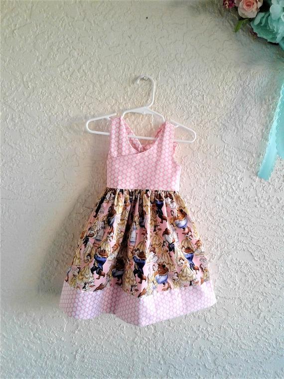 Disney Beauty and the Beast Dress, Belle Dress Disney Princess, Disney baby dress,Disney Toddler dress,Birthday Dress, Disney boutique dress