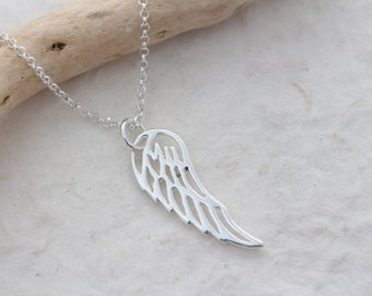 Sterling Silver Angel Wing Necklace, Wing Necklace, ALL PROCEEDS to benefit Young Girls in Cambodia, Proceeds to Charity. Wings Jelwery