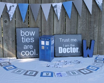 Doctor Who party decorations