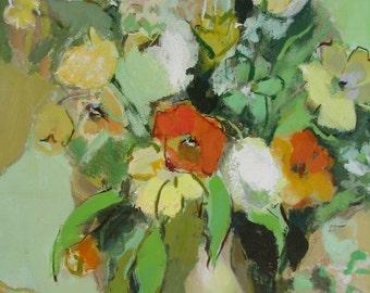 August Bouquet - Fine Art Print, Summer, Flowers, Home Decor, Wall Art, Gift, Giclee