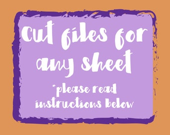 Planner Sticker Cut Files - Get Cut Files to use with your Cricut or Silhouette Cutting Machines! Please read instructions below
