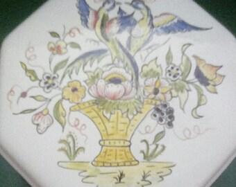 Octagon Jewelry Dish