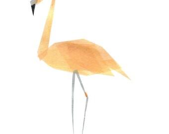 Betty Flamingo - Flamingo Art Print, Flamingo Decor, Animal Art Print