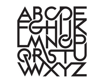 Alphabet print #1