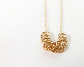 Tiny Gold Necklace - Circle Necklace - Gold Filled Necklace - Dainty Gold Necklace - Minimalist Necklace - Infinity Necklace - Bridesmaid