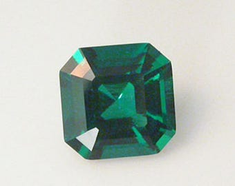Lab Created Hydrothermal Emerald Green Asscher AAA Loose Stones (4x4mm - 12x12mm)