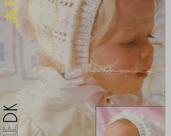 Baby Knitting Pattern Baby Bonnets Baby hats Childs Hats- newborn to 10 years - DK - Baby Knitting Patterns - PDF instant download