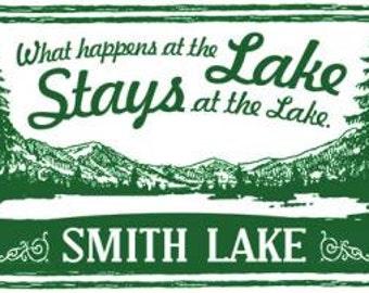 What Happens at the Lake……Smith Lake 13x15