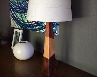 Modern Wood Table Lamp - Triple Wood