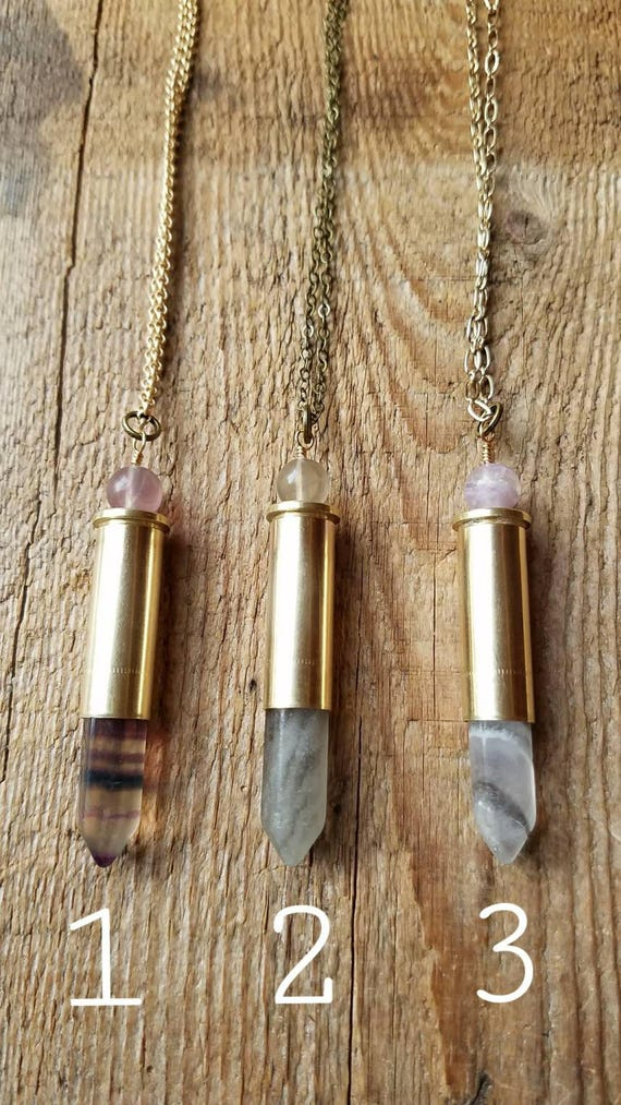 Fluorite bullet necklaces