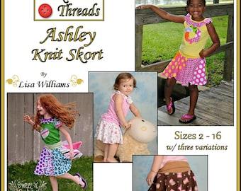INSTANT DOWNLOAD: Ashley Knit Skort - diy Tutorial pdf eBook Pattern - Sizes 2 - 16