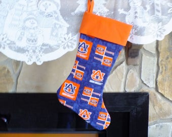 Christmas Stocking  Auburn University Orange Cuff Must Have!