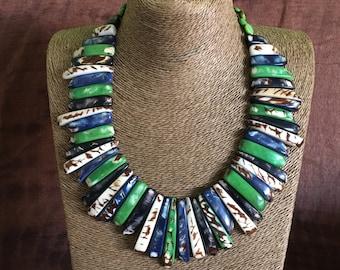 Tagua Nut Necklace / Tagua Nut Jewelry / Organic Jewelry / Tagua Collar / Eco-Jewelry
