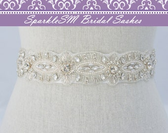 Pearl Bridal Belt, Beaded Wedding Belt, Rhinestone Sash, Bridal Sash, Bridal Belt, Jeweled Bridal Belt, Swarovski Sash, Bridesmaids Sash
