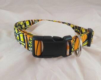 African Print Dog collars, Pet Collar, Cat Collar, Dog Collar , Adjustable Collar, Funky Collar, Collier de chien, collar de perro,